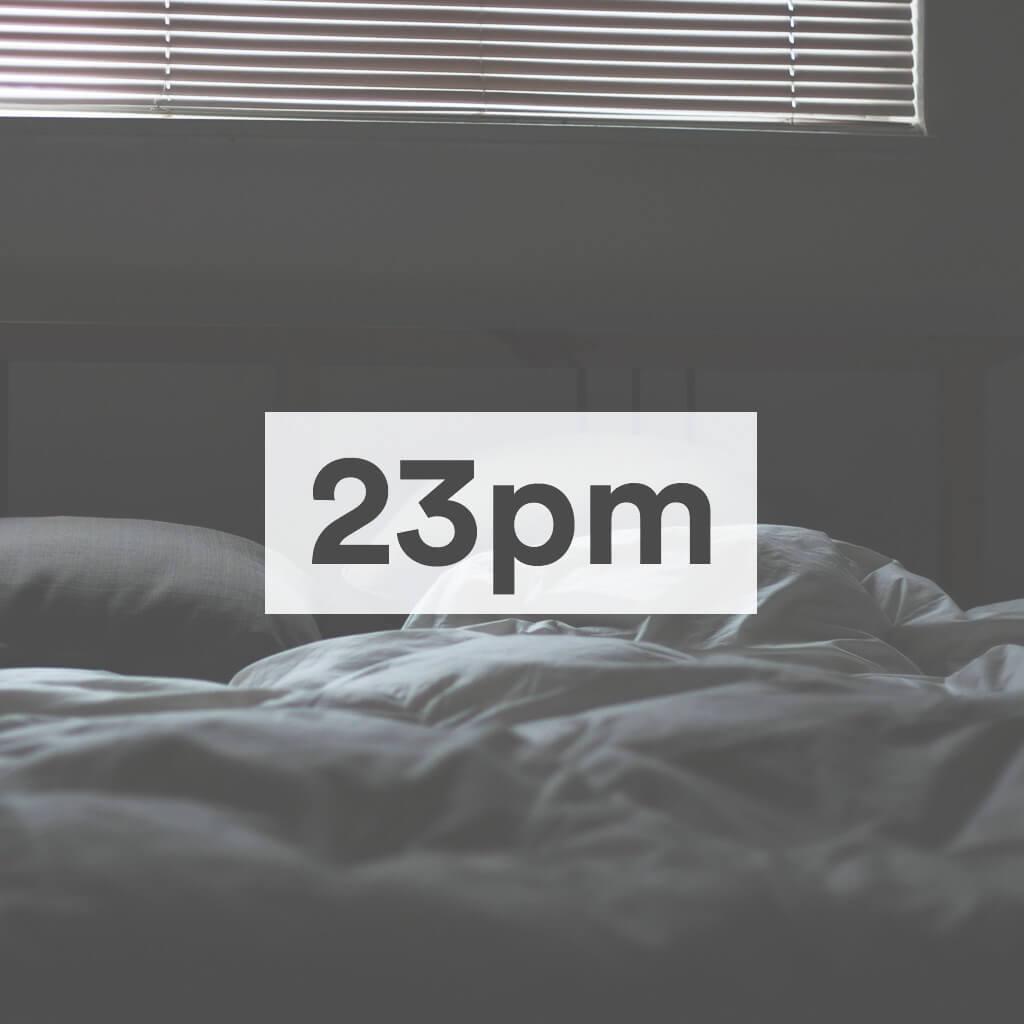 毎晩23時に寝るのサムネイル画像