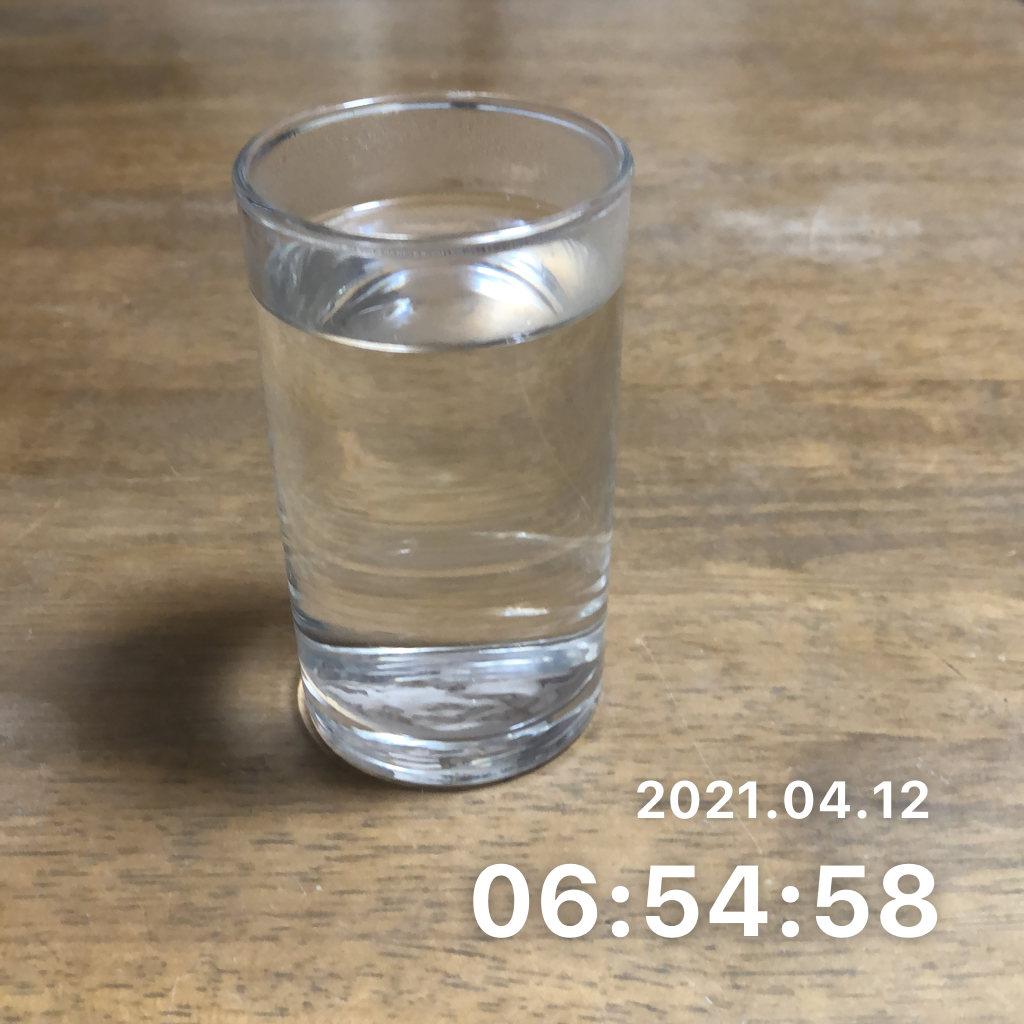朝にコップ1杯の水を飲むのサムネイル画像