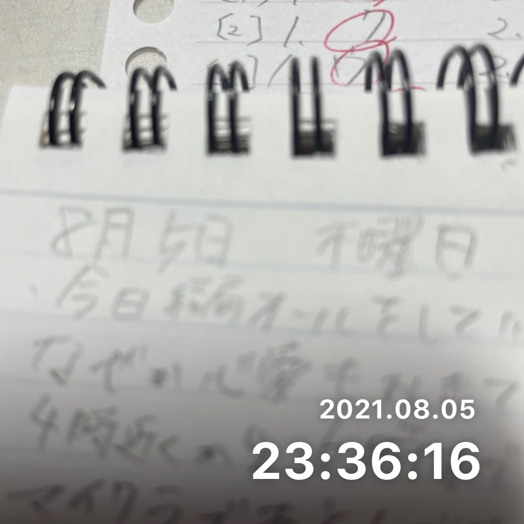 日記を書くのサムネイル画像
